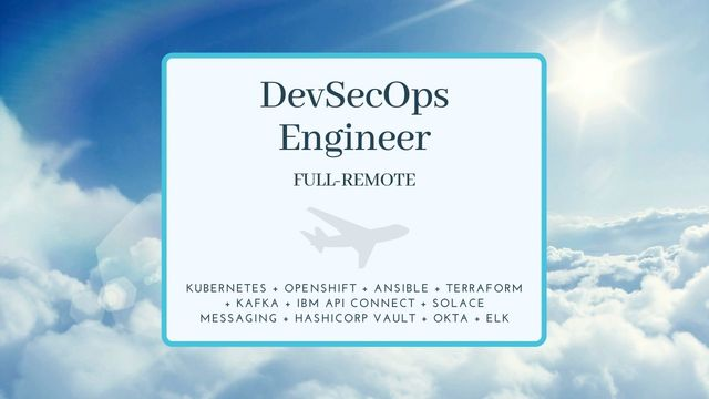 IT Job - DevSecOps Engineer - Full-remote - Eurocontrol - Sprint CV