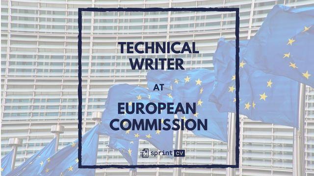 IT Job - Technical Writer at European Commission - Sprint CV