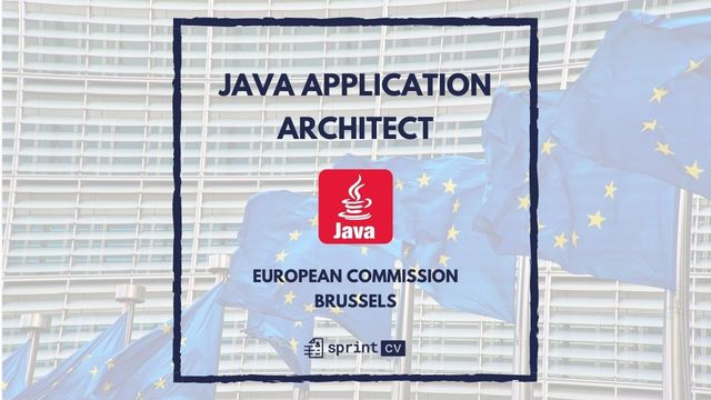 IT Job - Java Application Architect at European Commission - Sprint CV