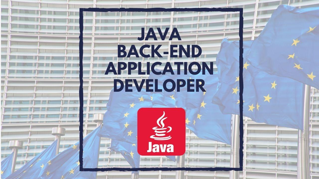 Java Back End Application Developer At European Commission