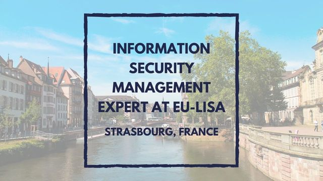 IT Job - Information Security Management Expert at eu-LISA - Sprint CV