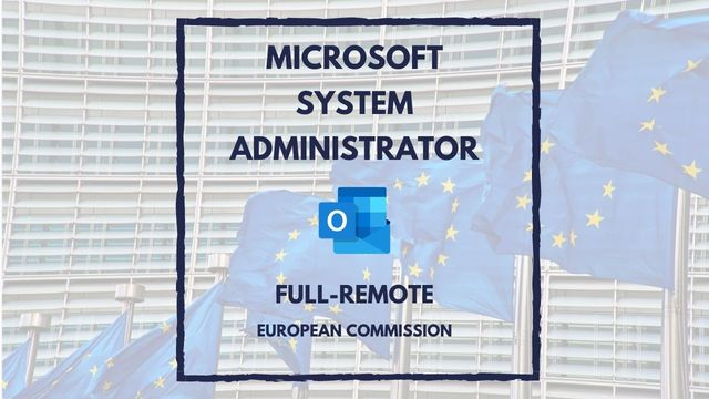IT Job - Microsoft System Administrator at ECDC - Full remote - Sprint CV