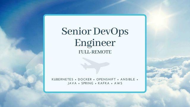 IT Job - Senior DevOps Engineer with Java background - Full-remote - Eurocontrol - Sprint CV