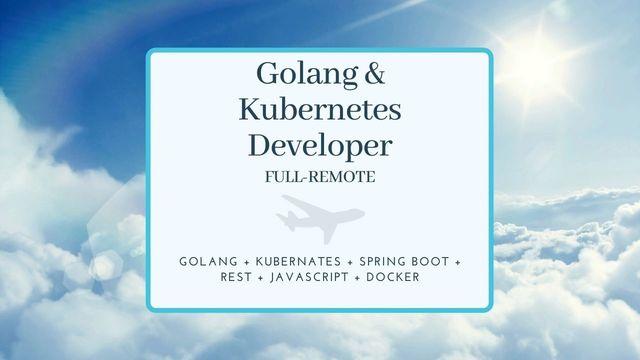 IT Job - Golang and Kubernetes developer - full remote - Aviation project - Sprint CV