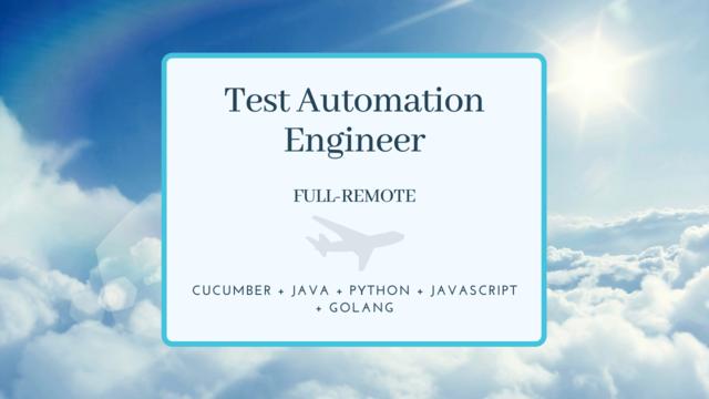 IT Job - Test Automation Engineer - Full-remote - Eurocontrol - Sprint CV